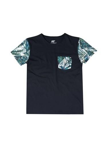 Bad Bear Erkek Tişört Floral Pocket Iı 180107045-Wht Lacivert